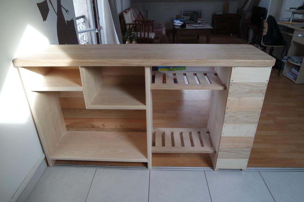 plan travail cuisine bois