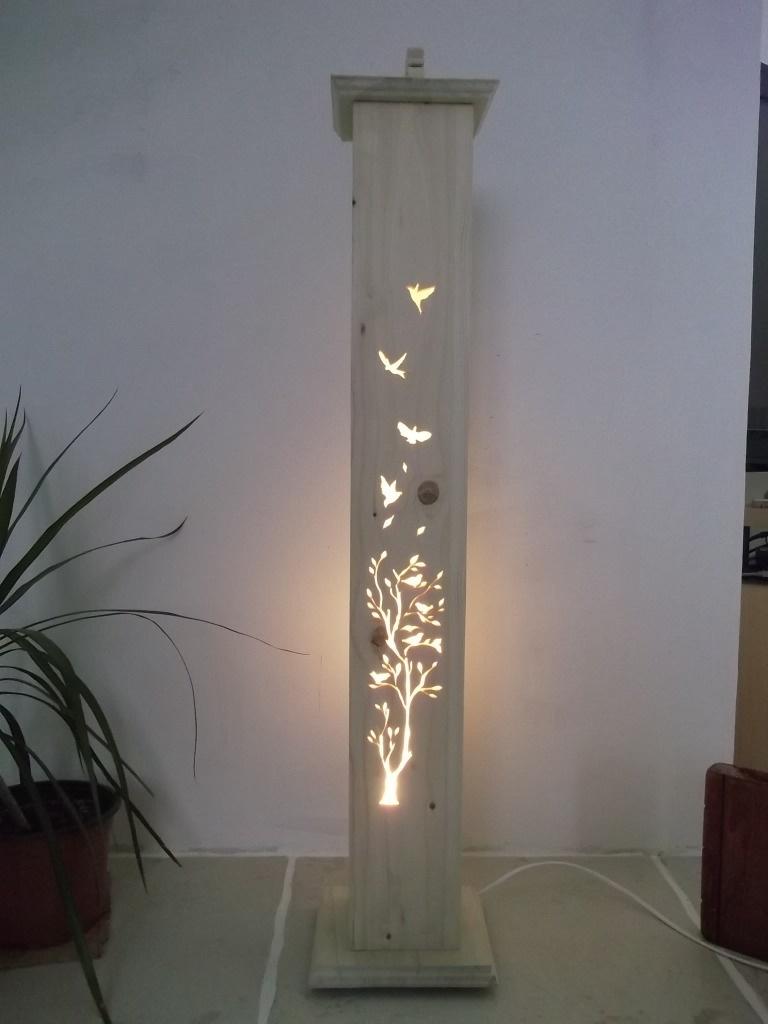 Lampe colone par CREATION BOIS sur LAir du Bois