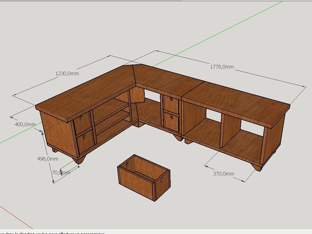 plan meuble tv d angle par peiot sur l