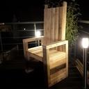 meuble jardin en palette bois
