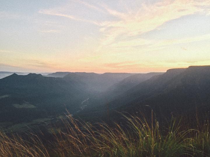 Vista para o Rio do Boi de cima do Morro dos Cabritos