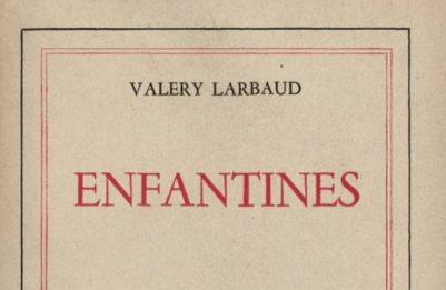 Ouvrage de l'écrivain Valéry Larbaud
