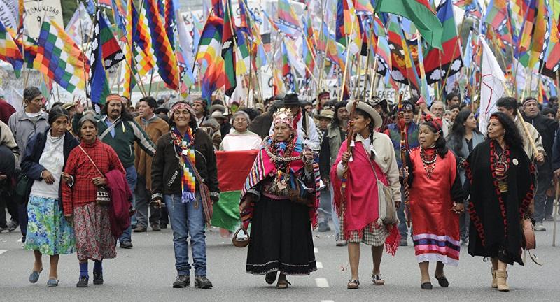 Los pueblos originarios an continan luchando por sus demandas histricas en Latinoamrica