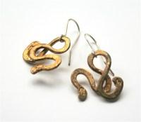 eb31 - brass serpentine earrings - La JewelleryLa Jewellery