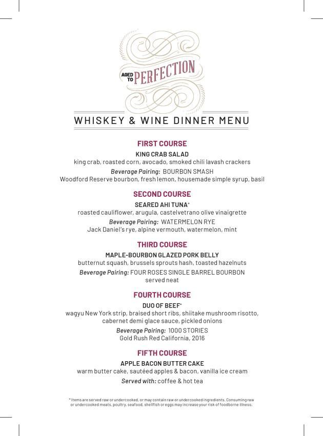 flemings la jolla wine whiskey dinner