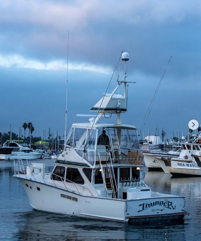 Deep sea fishing charter out of San Diego