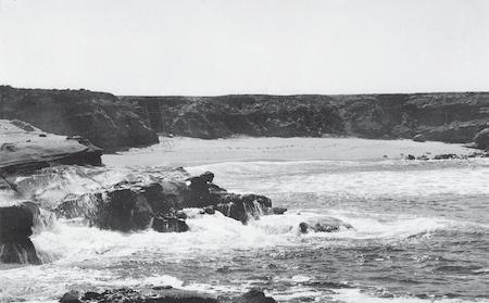 La Jolla Cove before it was developed.