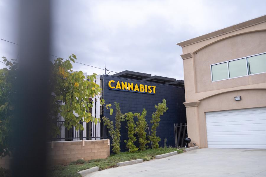 A San Diego dispensary sign
