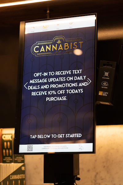 Customers can sign up for discount alerts at a San Diego dispensary