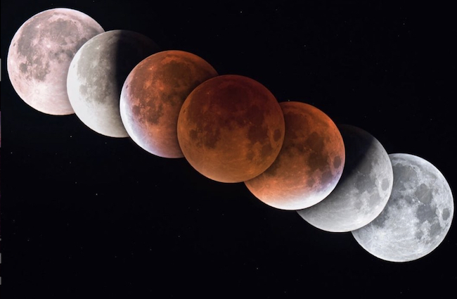 The lunar eclipse in 2021