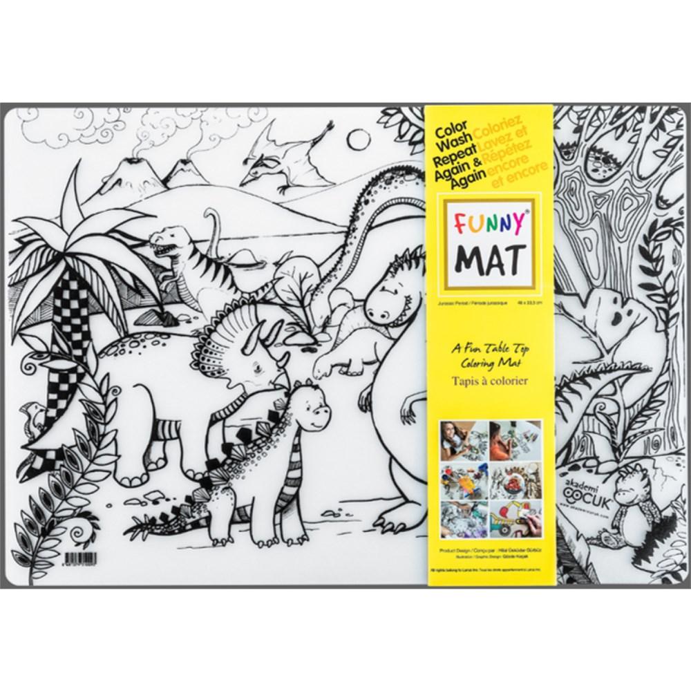 tapis a colorier napperon dinosaures