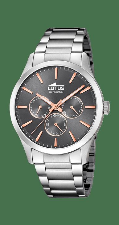 Reloj Lotus hombre esfera gris multifuncion