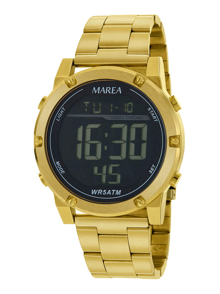 Reloj hombre dorado marea