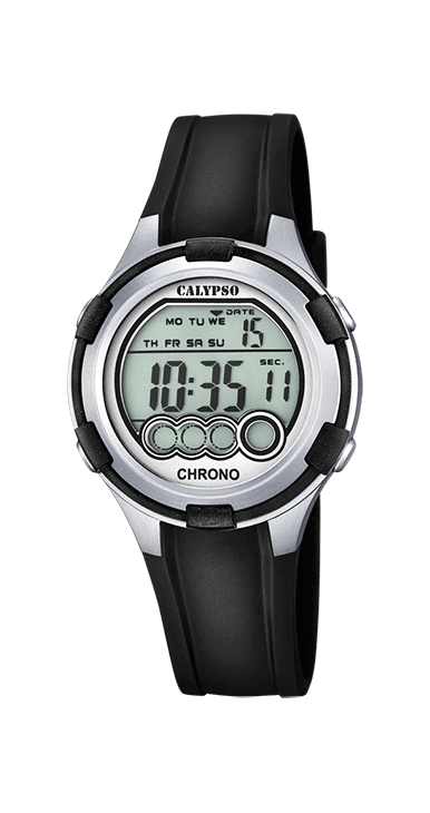 Reloj calypso K5692/2 deportivo digital, ideal para que te acompañe en el día a día. Resistente al agua hasta 100 metros incorpora: alarma, cronografo, hora dual y luz. Un todo terreno que viene de la mano del grupo LOTUS-FESTINA.