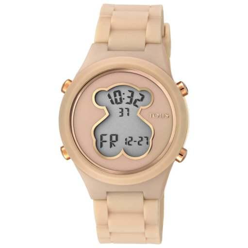 Reloj Tous Mujer 000351600 Rosa digital. Nuevo reloj de la colección TOUS de Bear, con caja de Policarbonato. Diametro de la esfera de 37.5 mm es resistente al agua 3 ATM. ( Apto para lavado de manos, salpicaduras ocasionales). Dispone de cristal mineral y movimiento de cuarzo. La correa cuenta con cierre de Hebilla. Dispone de alarma, Chrono y luz. Nuestro icono da un nuevo salto al estilo urbano con los relojes D-Bear, ¡Súmate al digital!.