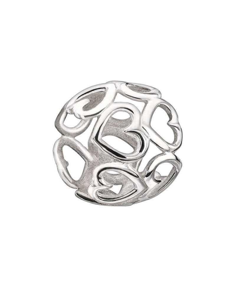 Charm plata corazones 2010-3154. Crea tú propia historia combinando los diferentes charms en plata de ley y siente el magnetismo en tu muñeca fusionados con estos vibrantes diseños.