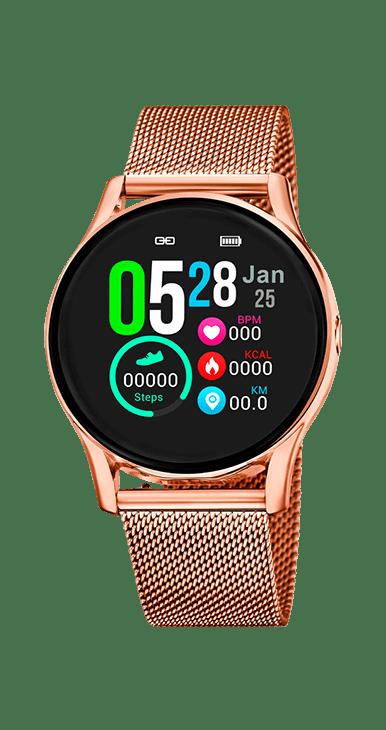 Reloj Smartwatch Lotus 50001/1 doble correa. Una de acero de malla milanesa y otra de caucho de color blanco. Combina la mayor tecnologia con el diseño y adentrate en el mundo @conectado.