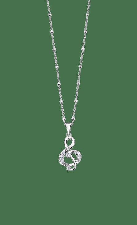 Collar Clave de Sol Lotus Silver Lp3018-1/1. Collar de plata con cadena combinada de eslabones con bolitas regulable entre 42/45 cm y colgante Clave de sol cuajado de circonitas. Frescura en sus diseños, dinamismo en las formas. Elegancia moderna, joven y contemporánea. Adéntrate en esta fantástica colección llena de magia y a unos precios de escandalo.