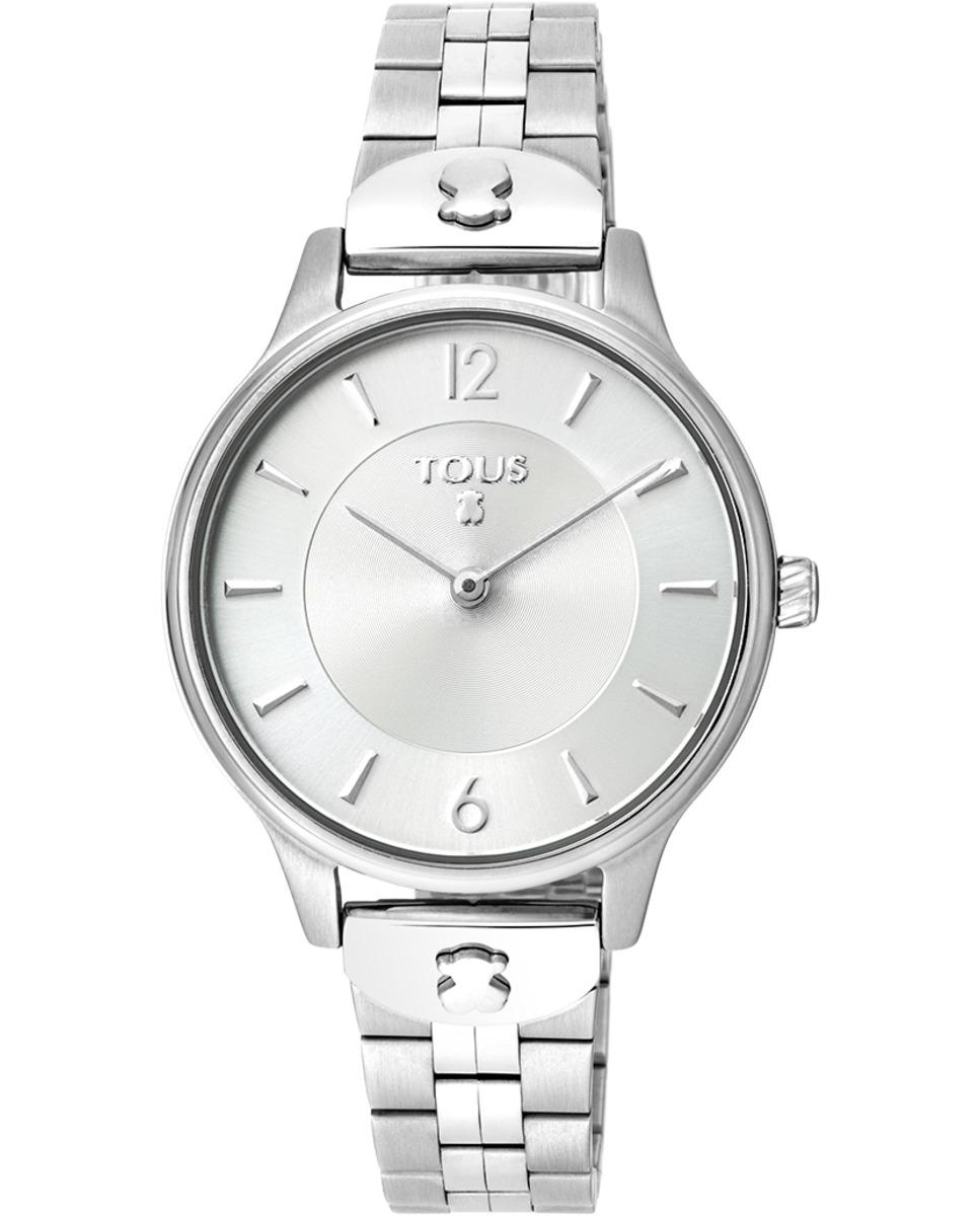 Reloj Tous Acero 100350420 Colección Len La apuesta estrella de este años 2021 por parte de la Marca Tous, está formado por cristal mineral, resistente al agua hasta 5 Atm, movimiento de cuarzo analogico y cierre desplegable con pulsadores. Diámetro de la esfera 33 mm. Función de hora y minutos. Joyería la joyita es distribuidor oficial de la marca TOUS y todos los relojes de se entregarán junto a su caja y garantía oficial. Garantía de dos años.