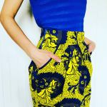 Jupe Droite Wax - La jupe Normande - vêtements et accessoires made in Normandie