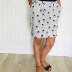 Jupe courte Nocturne - La jupe Normande - vêtements et accessoires made in Normandie