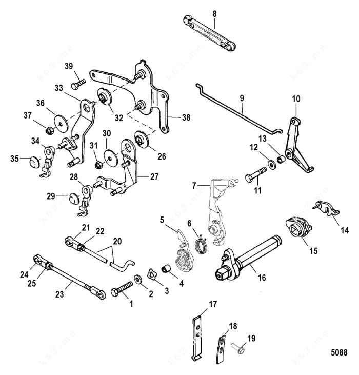 Mercury/Mariner 20 Jet, Throttle and Shift Linkage Remote