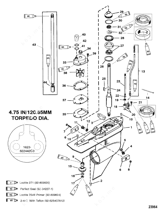 Mercury/Mariner 250 3.0l EFI, G/Housing, Drive-Std/Counter