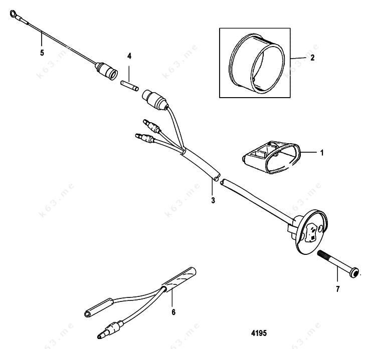 Mercury/Mariner 40 EFI 3 Cyl. 4-Stroke, Trim Switch Kit
