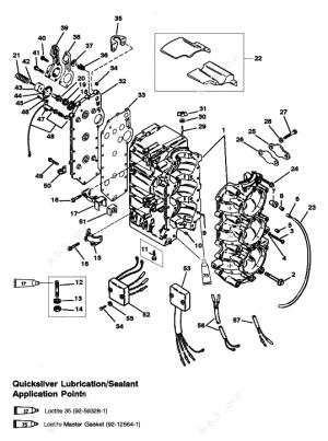 MercuryMariner 75 3 Cyl, Cylinder Block USA0G127499Bel