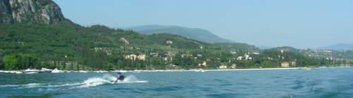 lake garda waterskiing and jet