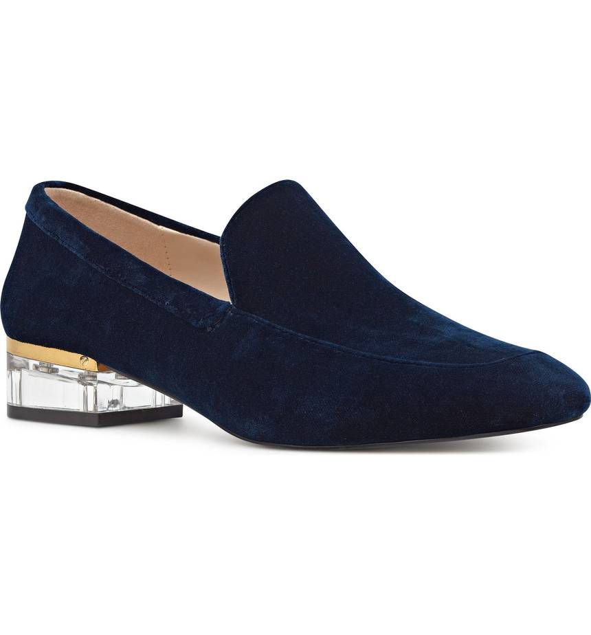 The perfect velvet loafers for work
