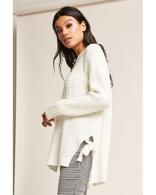 forever-21-CREAM-Cable-Knit-Self-tie-Top