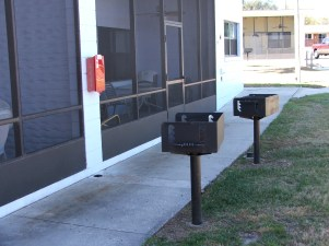 BBQ Grills In Front of Each Unit