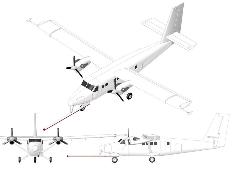 TWIN OTTER DHC-6 SURVEY NOSE BOOM