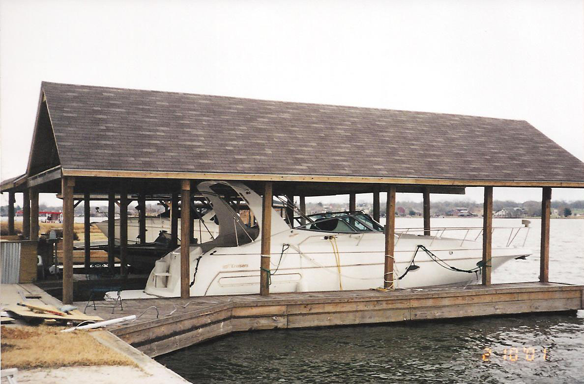 Boat Houses Sun Decks and Slip Covers  Waterfront Build