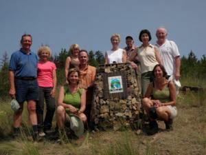 WALC volunteers at the Grand Overlook, Spion Kop summit
