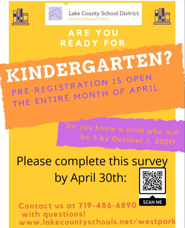Pre-registration for 2021-2022 Kindergarten at Lake County Elementary School