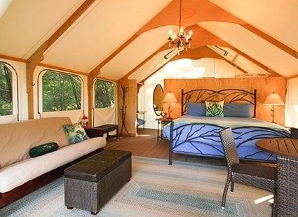 Glamping  Luxury Camping on San Juan Island  Lakedale Resort