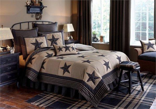 Sturbridge Patch Black Quilt and Bedding by Park Designs