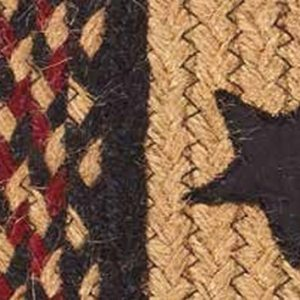 Blackberry Star Braided rugs by IHF