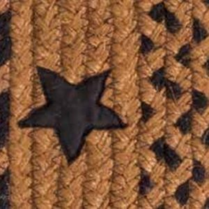 Star Black BR-197 Braided Rugs by IHF
