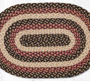 C-774 Burgundy/Black/Dijon Braided Rug