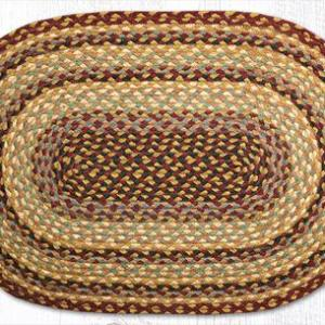 C-357 Burgundy/Gray/Cream Braided Rug
