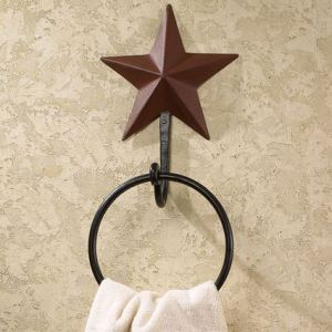 Barn Star Burgundy Bath Accessories