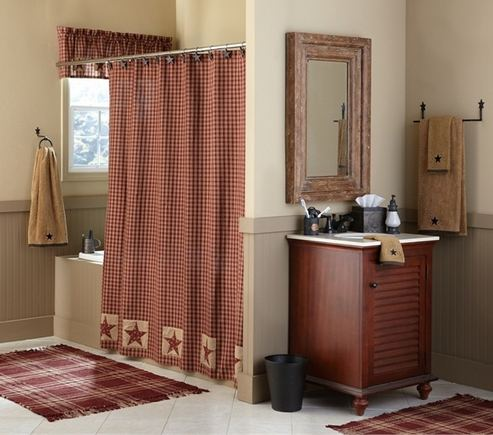 Sturbridge Patch Wine Shower Curtain By Park Designs