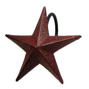 Burgundy Star Shower Curtain Hooks Set 12 3