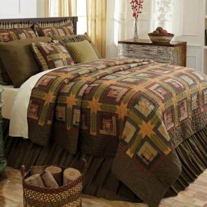 Tea Cabin Quilt and Bedding by VHC Brands