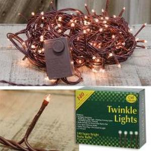 Twinkle Lights, Brown Cord