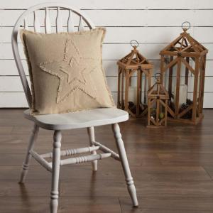 Burlap Vintage Star Pillow