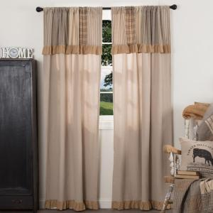 Sawyer Mill Panel Curtains with Patchwork Valance